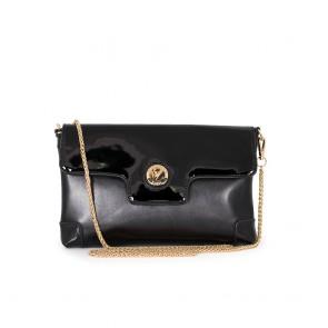 Елегантна дамска чанта от еко лак и кожа