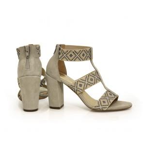Дамски сандали естествен велур - 2