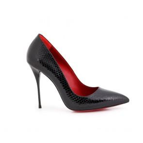 Дамски eлегантни обувки от естествен лак Н1-15-04