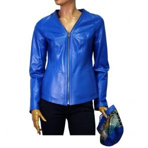 Дамско яке естествена кожа двулицево
