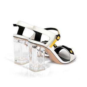 Дамски сандали от естествен лак DV-181-169 - 2