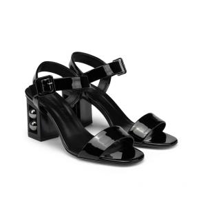 Дамски сандали от естествен лак DV-239-01 - 2