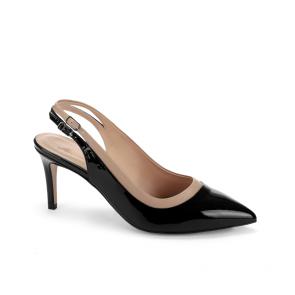 Дамски сандали от естествен лак и кожа DV-265-08