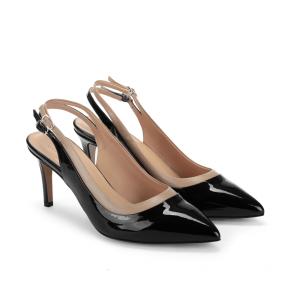 Дамски сандали от естествен лак и кожа DV-265-08 - 2