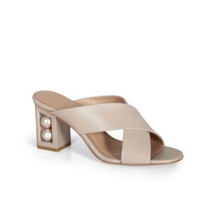 Дамски чехли от естествена кожа DVN-293-04