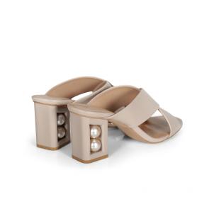 Дамски чехли от естествена кожа DVN-293-04 - 2