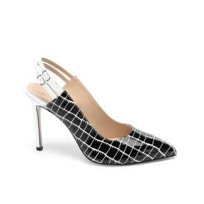 Дамски сандали от естествен лак DV-58-07