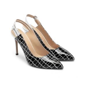Дамски сандали от естествен лак DV-58-07 - 2