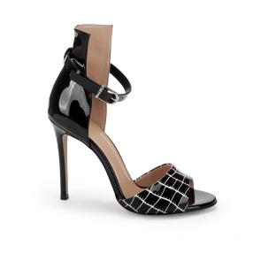 Дамски сандали от естествен лак DV-709-135