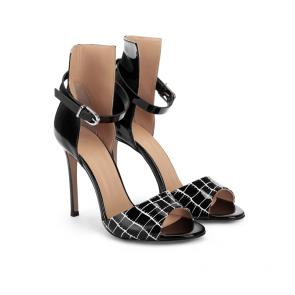 Дамски сандали от естествен лак DV-709-135 - 2