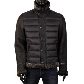 Мъжко яке от естествена кожа и текстил EZ-9304