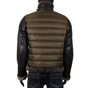 Мъжко яке от естествена кожа и текстил EZ-9304  - 2