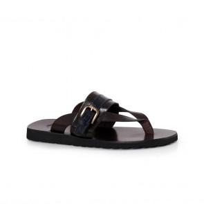 Мъжки чехли от естествена кожа GN-193787