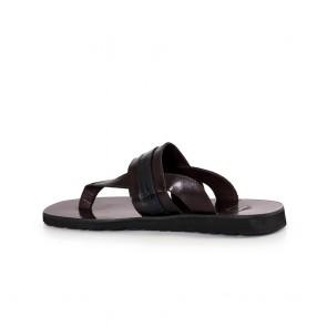 Мъжки чехли от естествена кожа GN-193787 - 2