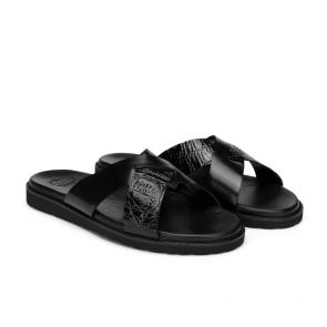 Мъжки чехли от естествена кожа GN-193849 - 2