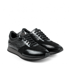Мъжки обувки от естествена кожа и велур GN-470563 - 2