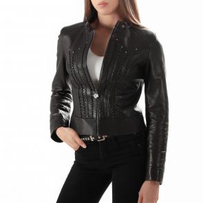 Дамско яке от естествена кожа GR-363 - 2