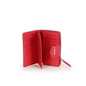 Дамско портмоне от естествена кожа в червен цвят GRD-2213 - 2