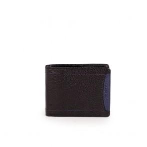 Мъжки портфейл от естествена кожа в черен цвят