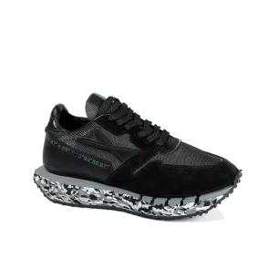 Дамски спортни обувки от естествен велур и лак ILV-005
