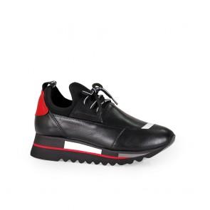 Дамски спортни обувки от естествена кожа и деним ILV-1080