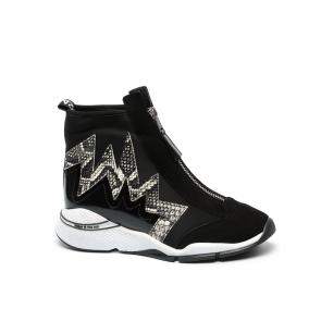 Дамски спортни обувки от естествен велур и лак ILV-1218