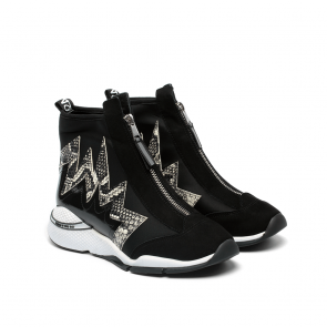 Дамски спортни обувки от естествен велур и лак ILV-1218 - 2