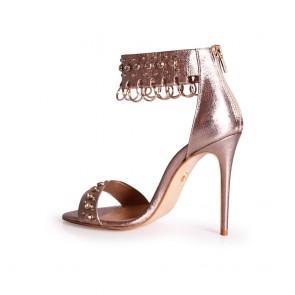 Дамски елегантни сандали от естествена кожа - 2