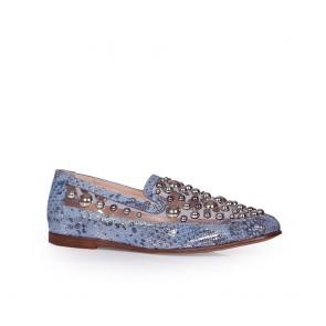 Дамски обувки от естествен кожа и винил