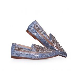 Дамски обувки от естествен кожа и винил - 2