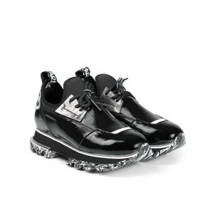 Дамски спортни обувки от естествен лак и стреч ILV-2052-2 - 2