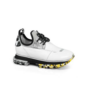 Дамски спортни обувки от естествена кожа и стреч ILV-2052-2