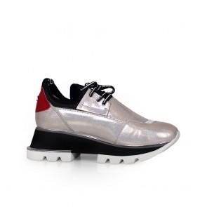 Дамски спортни обувки от естествена кожа и стреч ILV-2052