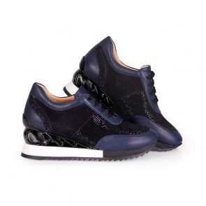 Дамски спортни обувки от естествена кожа и велур - 2