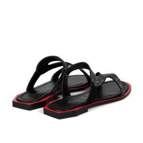 Дамски чехли от естествен велур ILV-2132-20 - 2