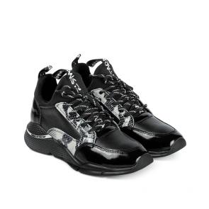 Дамски обувки от стествена кожа и лак ILV-2197 - 2