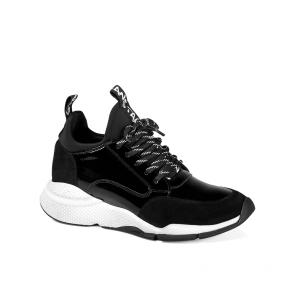 Дамски обувки от стествен лак и велур ILV-2197