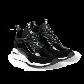 Дамски обувки от стествен лак и велур ILV-2197 - 2