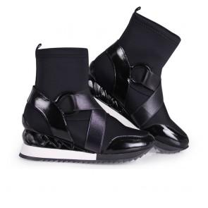 Дамски спортни обувки от стреч - 2