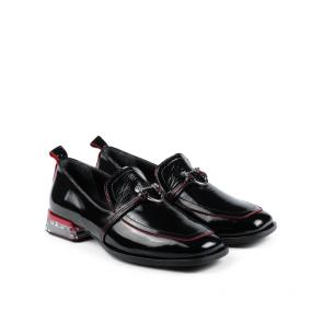 Дамски обувки от естествен начупен лак  ILV-253 - 2