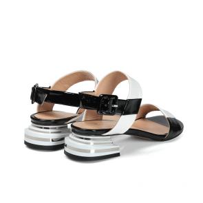 Дамски сандали от естествен лак ILV-2533-20/1 - 2