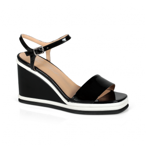 Дамски сандали от естествен лак ILV-2635-20