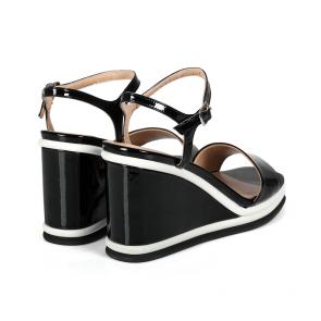 Дамски сандали от естествен лак ILV-2635-20 - 2