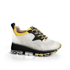Дамски спортни обувки от естествена кожа ILV-2855
