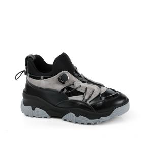 Дамски спортни обувки от естествена кожа и велур ILV-3000