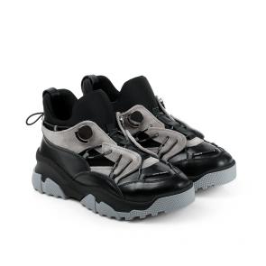 Дамски спортни обувки от естествена кожа и велур ILV-3000 - 2