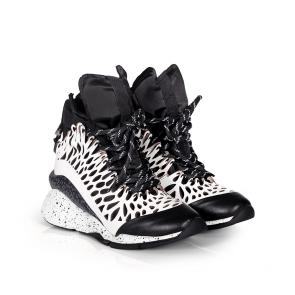 Дамски спортни обувки от естествена кожа и лак ILV-3052 - 2