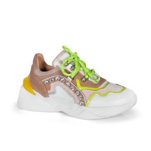 Дамски спортни обувки от естествена кожа ILV-3128