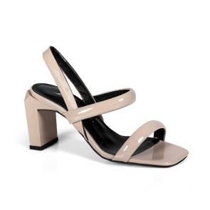 Дамски сандали от естествен лак ILV-4028