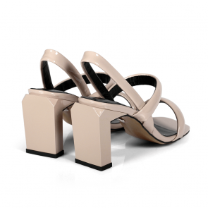 Дамски сандали от естествен лак ILV-4028 - 2